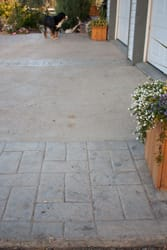 Concrete Driveway, with Stamped Concrete