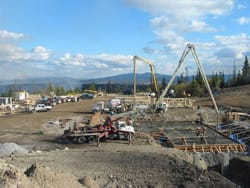 Mine Concrete Pour with Pumping