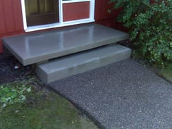 Decorative Concrete Sidewalk & Steps